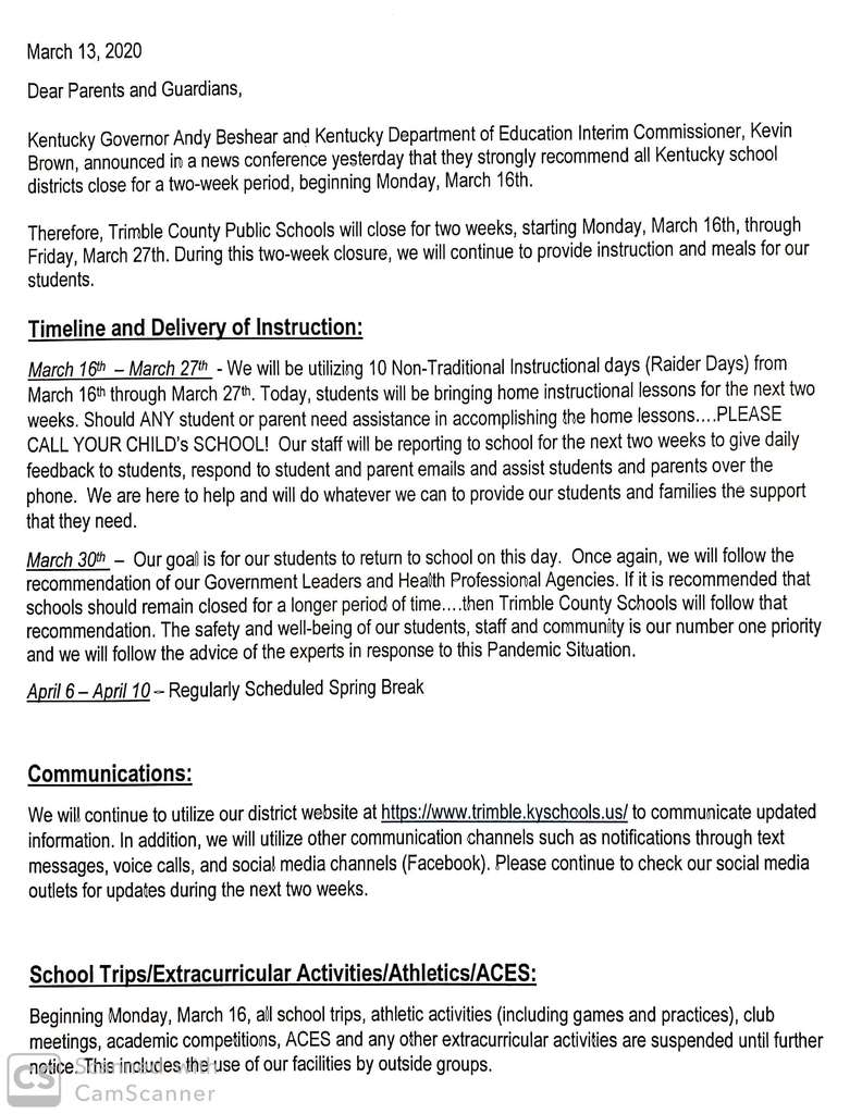 School closure page 1